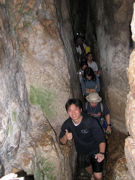 2007 12 30 Sun - Adam Day, Susan Cho, Kelly Kwan, Ken & Debbie Pierce, Lisa Ishikara, Michelle Kim, Polly Wang, Edwin Oak, & Peter Kim in Hezekiah's Tunnel 2