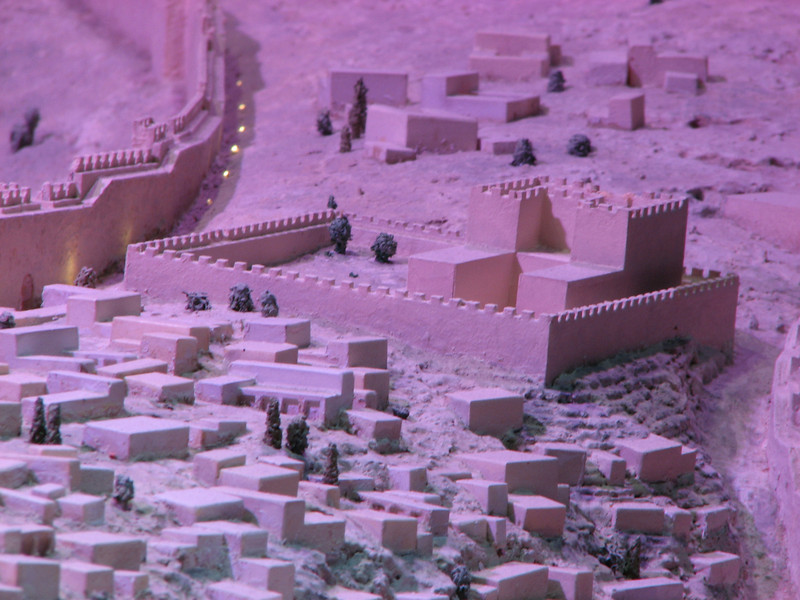 2007 12 30 Sun -  1st Temple Period model - proposed look and location of David's palace