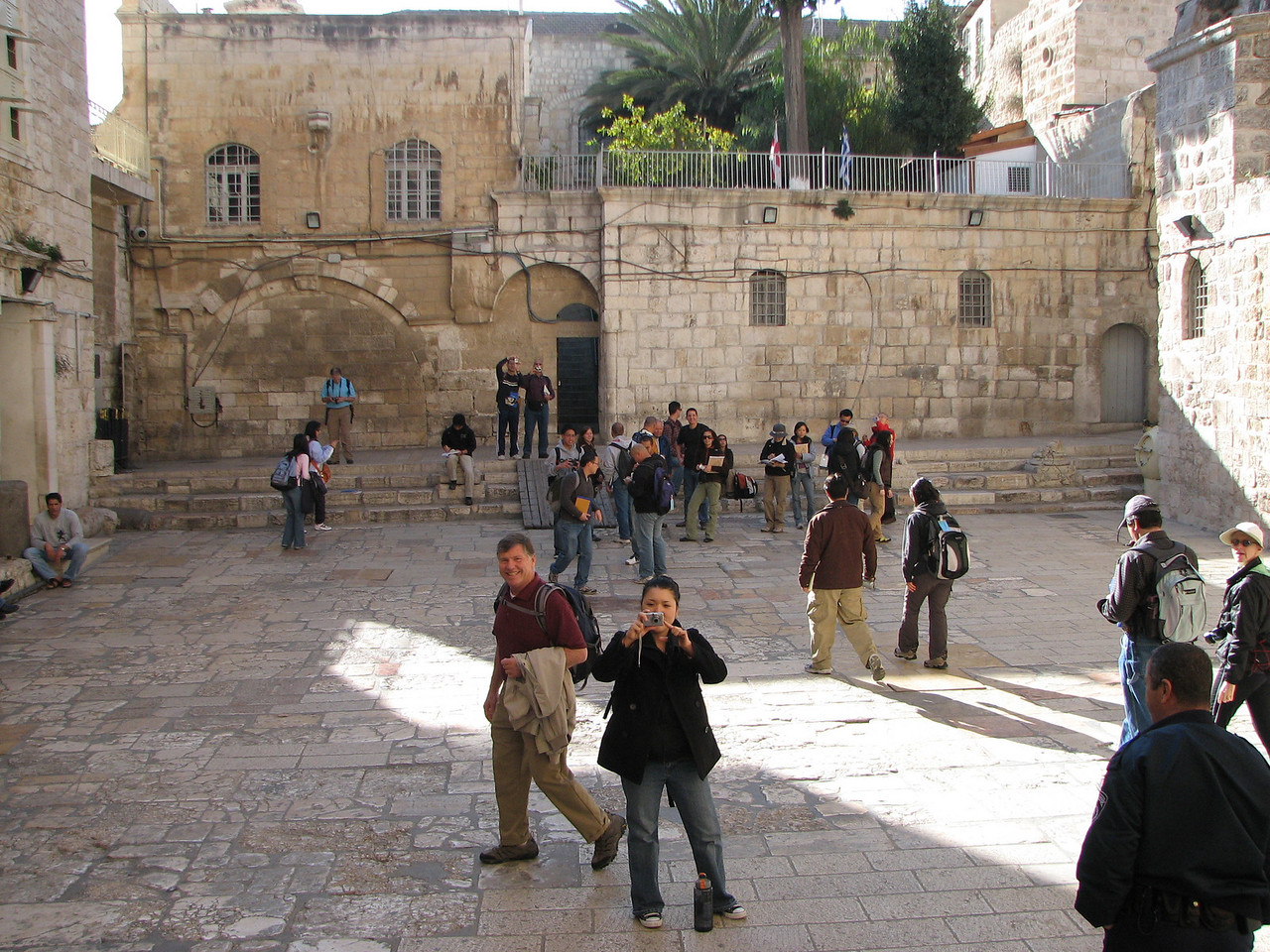 2007 12 29 Sat - Old City walk - View from stairs next to front door of Church of Holy Sepulcre