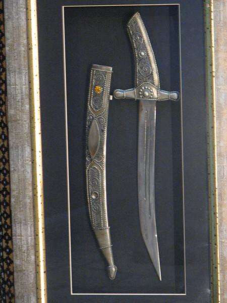 2007 12 28 Fri - Jerusalem - blade for sale in Christan Quarter