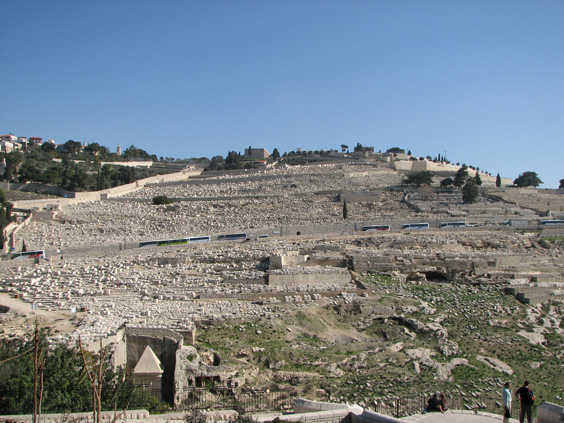 2007 12 29 Sat - Old City walk - Eastern Temple Mount Wall - tombs on Mount of Olives