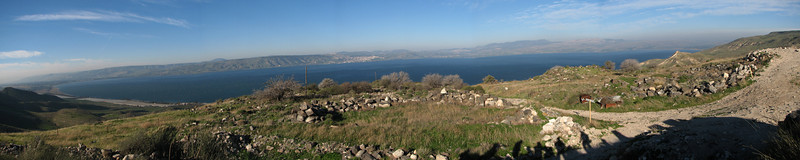 Sea of Galilee from Hippos Susita panoramic