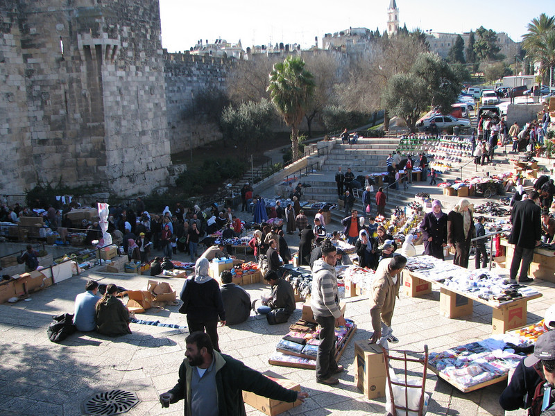 2007 12 29 Sat - Old City walk - Damascus Gate market on North side of Old City 2