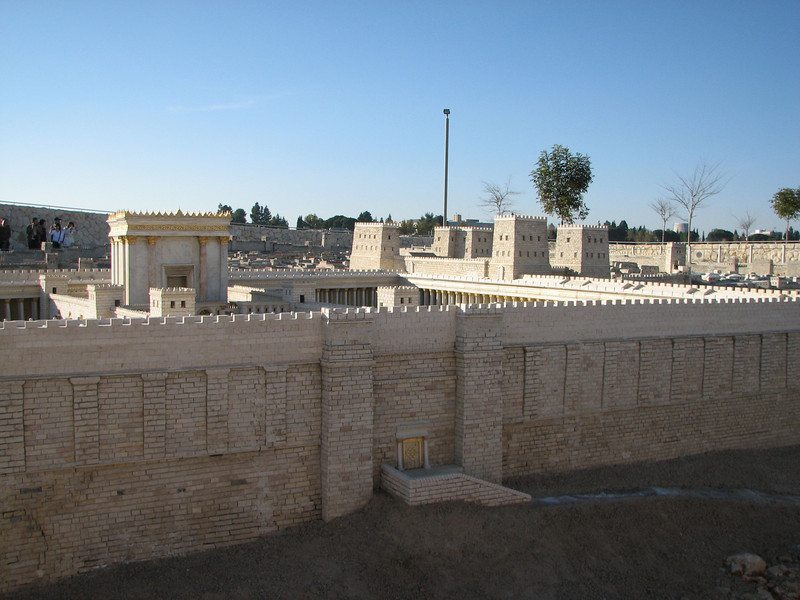 2007 12 29 Sat - Jerusalem Museum - model of city - Eastern Temple Mount Wall