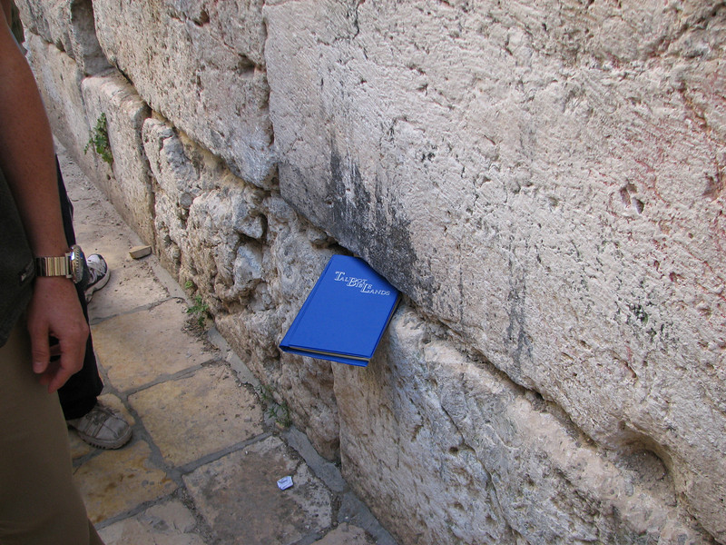 2007 12 31 Mon - Mini Wailing Wall on other side of Western Wall - Talbot Biblelands was here