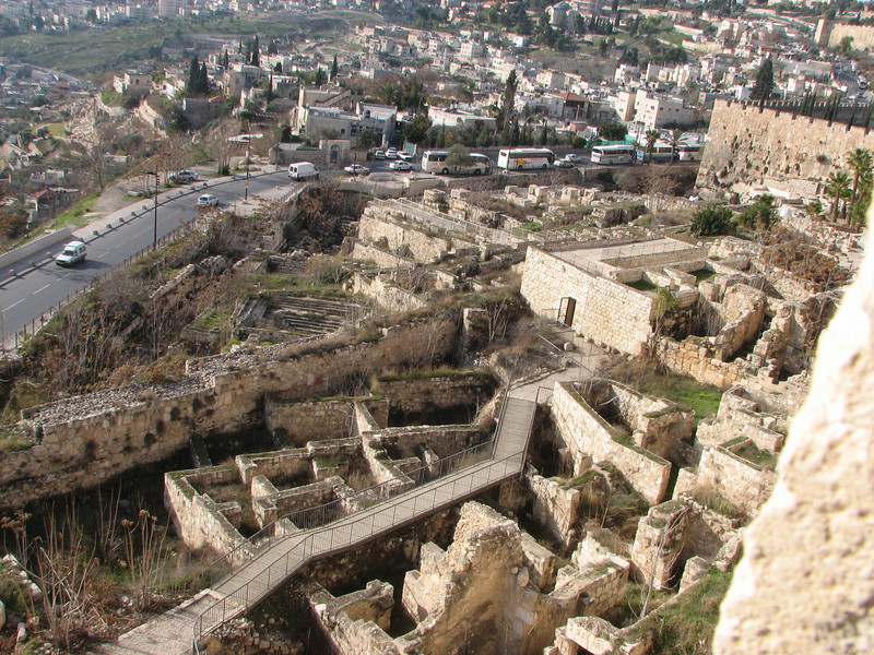 2007 12 31 Mon - City of David from Southern Wall on Temple Mount 1