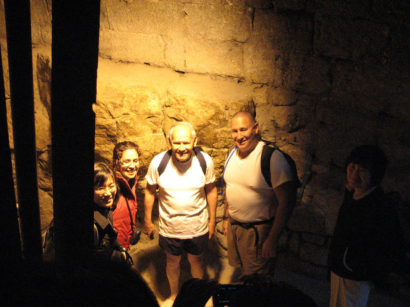 2007 12 30 Sun - Kyungsook Yoon, Marisol Martinez, Richard Rigsby, Richard Ackerman, & Chung Moo Choi just before getting into Hezekiah's Tunnel water