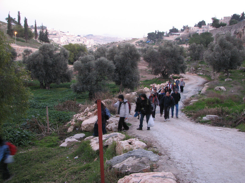 2007 12 30 Sun - Walking through Hinnom Valley, Gehenna, or hell 2