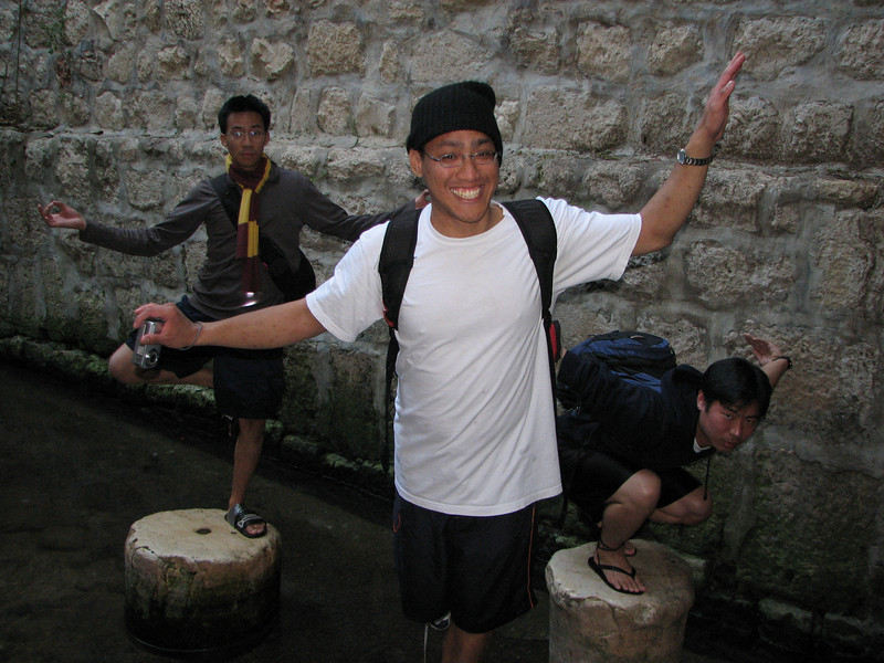 2007 12 30 Sun - Ben Yu, Peter Sudjarwadi-Go, & Peter Kim posing after Hezekiah's Tunnel 1