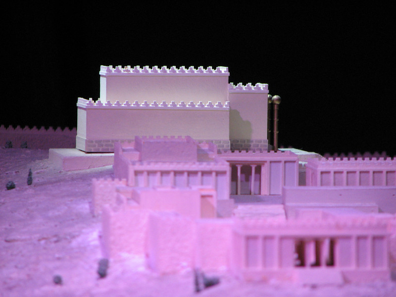 2007 12 30 Sun -  1st Temple Period model - proposed look and location of the temple