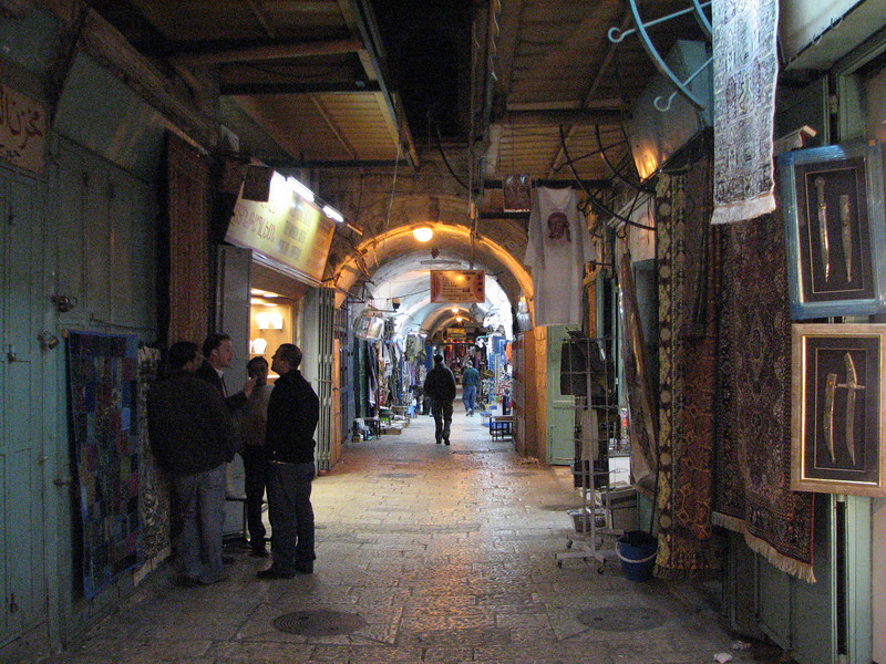 2007 12 28 Fri - Jerusalem - market alley in Christian Quarter