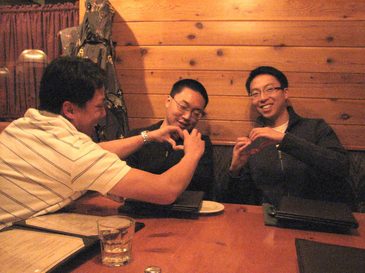 2008 02 09 Sat - Manly men of Mogul - Larry Lee, Caleb Yang, & Desmond Chiu