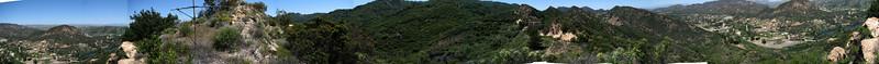 2008 04 12 Sat - Haunted House & Malibu Mountains panoramic