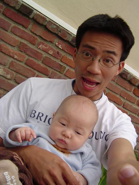Ben Yu & baby Kylan Kim 1
