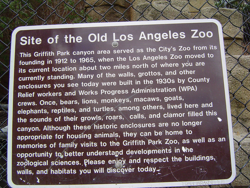 Old LA Zoo info