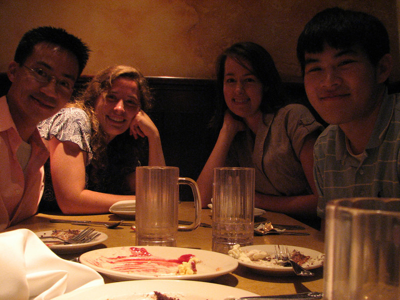 2008 05 03 Sat - Ben Yu, Dannah Dennis, Amy Smith, & Sam Huang @ Old Town Pasadena Cheesecake Factory for post-ballet dessert