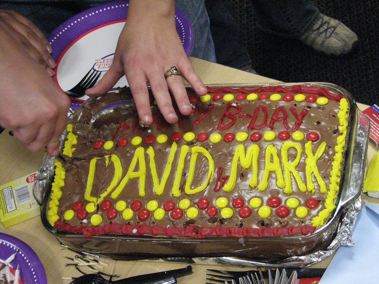 2008 04 02 Wed - David Kinnen & Mark Johnson's b-days @ Chuck E  Cheese's - the cake