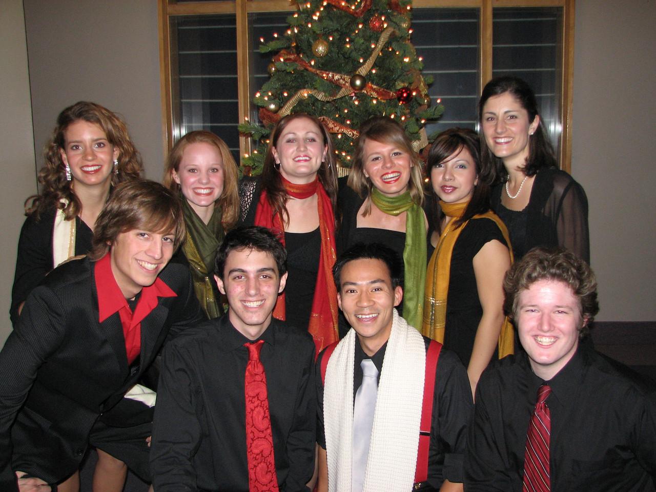 2006 12 09 Sat - Biola Vocal Jazz Ensemble 3 - Laura Coghlan, Heather Onken, Heidi Bargen, Charissa Noble, Jessi Vasquez, Shawna Stewart, Dan Rigall, Trevor Gomes, Ben Yu, & Jordan Johnson
