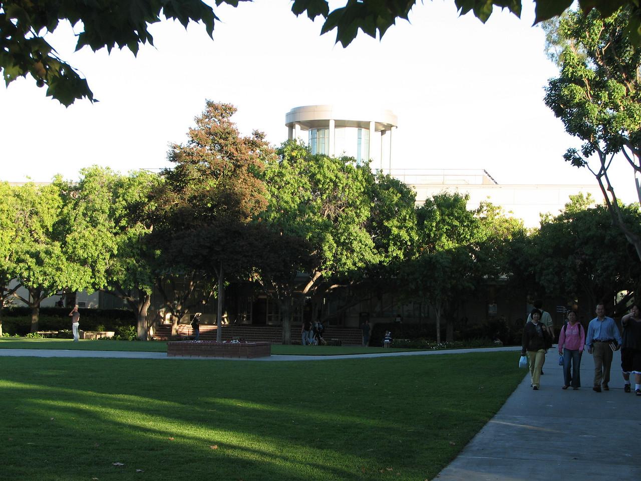 2006 09 27 Wed - Biola University Library is somewhere behind those trees 2