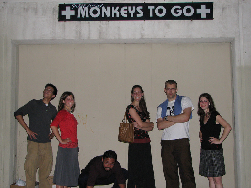 2008 04 28 Mon - Monkeys to go 2 - Ben Yu, Ayelet Hendren, Isai Garcia, Laura Hannesson, Caleb Campbell, & Roni Hendren