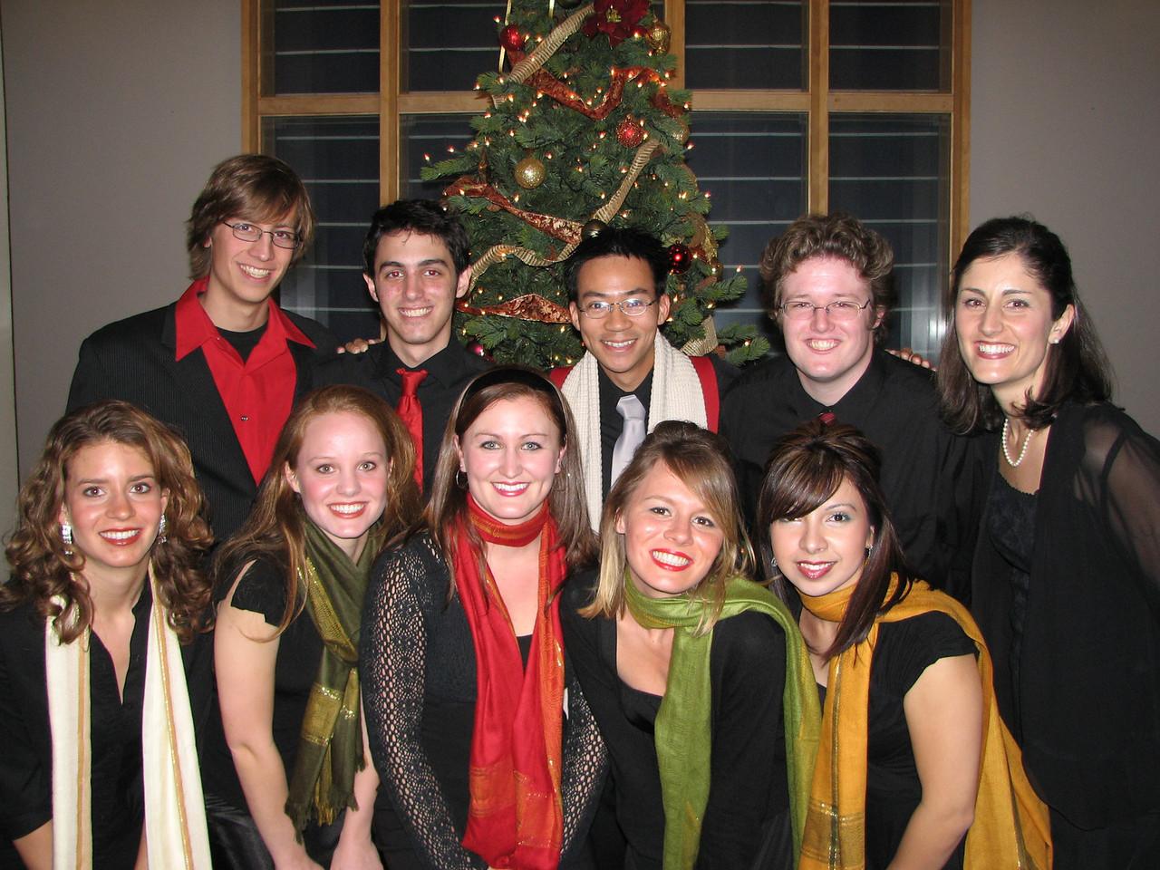 2006 12 09 Sat - Biola Vocal Jazz Ensemble 2 - Dan Rigall, Trevor Gomes, Ben Yu, Jordan Johnson, Shawna Stewart, Laura Coghlan, Heather Onken, Heidi Bargen, Charissa Noble, & Jessi Vasquez