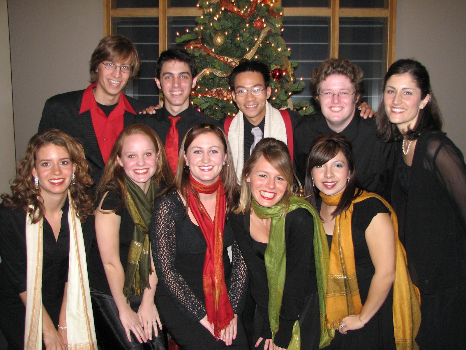 2006 12 09 Sat - Biola Vocal Jazz Ensemble 1 - Dan Rigall, Trevor Gomes, Ben Yu, Jordan Johnson, Shawna Stewart, Laura Coghlan, Heather Onken, Heidi Bargen, Charissa Noble, & Jessi Vasquez