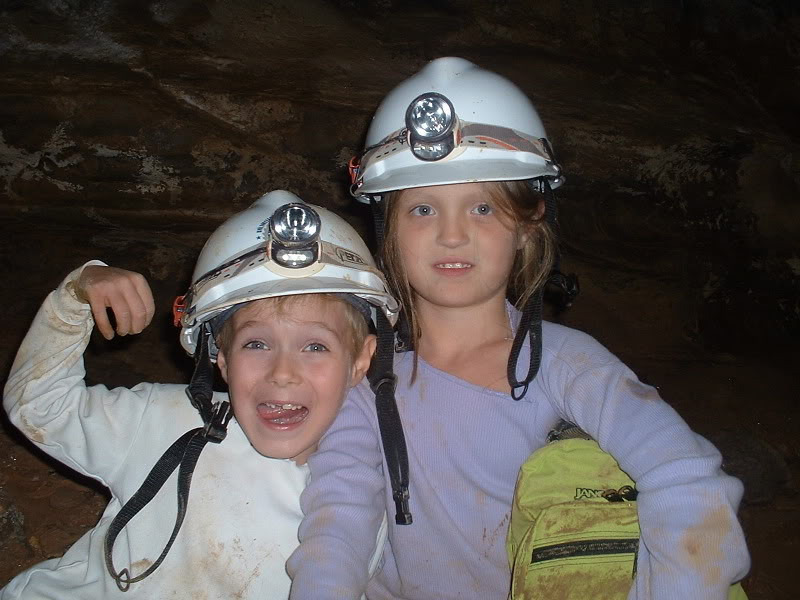 Brecken and Destiny - Scott Hollow Cave - 9/4/05
