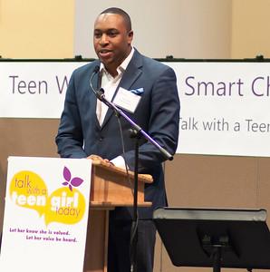 Aaron Myers, Crittenton board member kicks off the program created by Crittenton girls