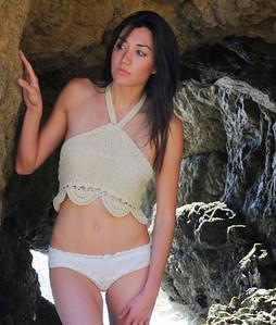 Pretty Brunette Swimsuit Bikini Model