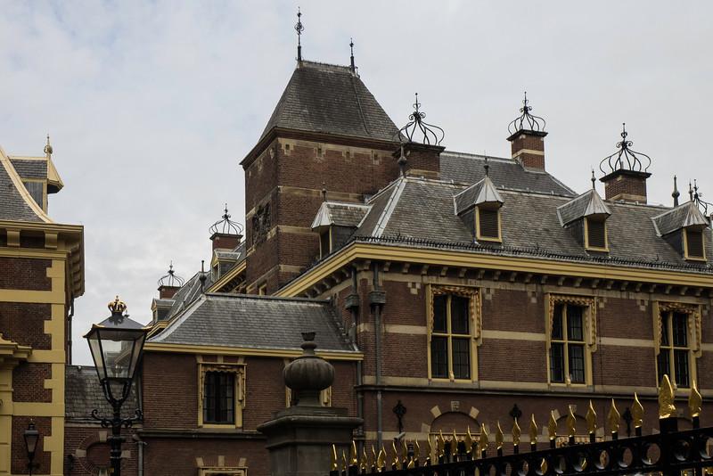 The Hague, the Netherlands - the Binnenhof  Mauritshuis Museum
