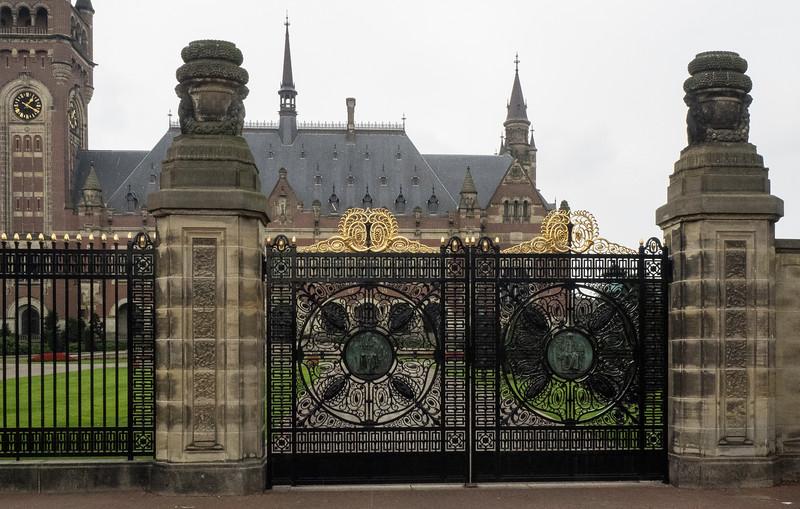 Peace Palace with ornate gates