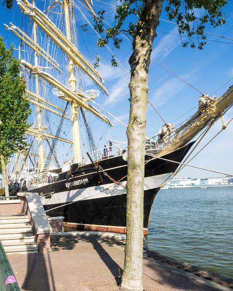 The Kruzenschtern a Russian ship