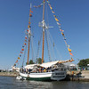 Kailee Leonard - The News-Herald<br /> A 56 foot replica of a Great Lakes schooner - Madeline - originally built in Grand River in 1845 sits at dock while guests tour her main deck.