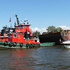 Kailee Leonard - The News-Herald<br /> These local tugboats sit in the Grand River during the Fairport Harbor Tall Ship Harbor Festival.