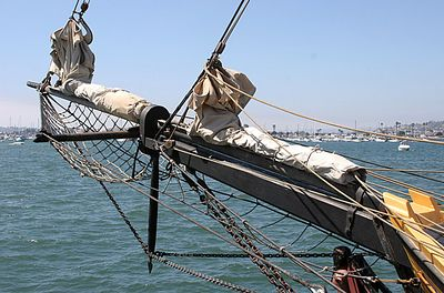 Bowsprit of Spirit Of Newport
