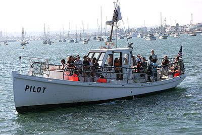 Pilot...  restored 1914 San Diego Harbor Pilot Boat.  This boat was in active service until 1998.