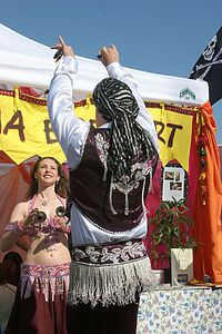 Male belly dancer
