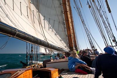 Lynx battle re-enactment sail