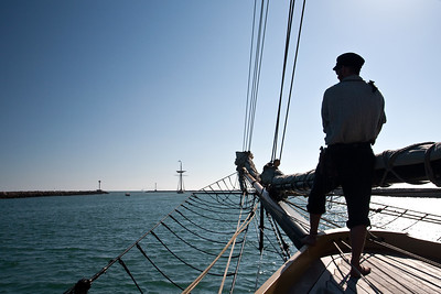 Lynx leaving Channel Islands Harbor during battle re-enactment sail