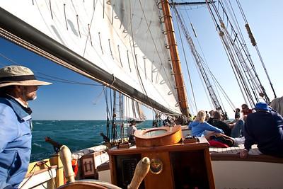 Lynx battle re-enactment sail, Captain Craig Chipman