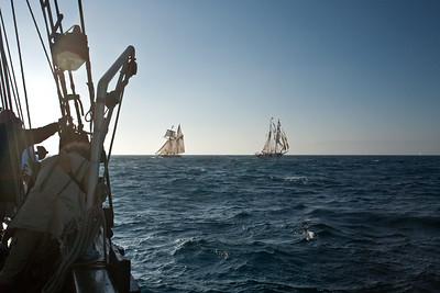 Battle re-enactment sail
