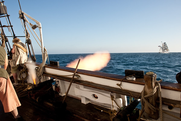Mock sea battles