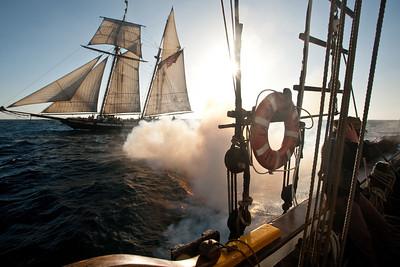 Spirit of Dana Point battle re-enactment sail, with Lynx