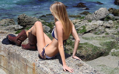 Beautiful Bikini Swimsuit Model