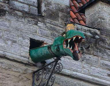 Fancy drain pipe in Town Hall, Tallinn.