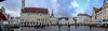 Pano shot of Town hall Square, Tallinn.