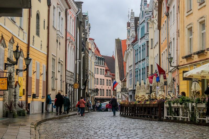 One of many Tallinn cobblestone streets.