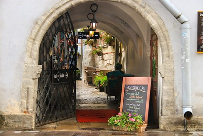 Restaurant airway in Tallinn, Estonia.
