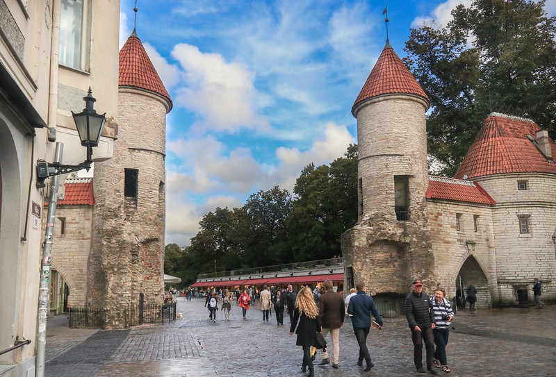 Main gateway into Tallinn, Estonia. Tallinn became a city in 1248, but settlements date back 5000 years.