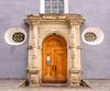 Ornate doorway in Tallinn.
